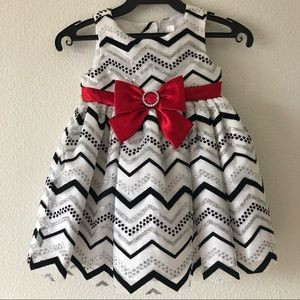 Youngland Baby Black & Silver Tulle Party Dress